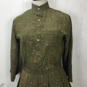 Vintage Skirts - Vintage Handmade Deck of Cards Two Piece Skirt Set